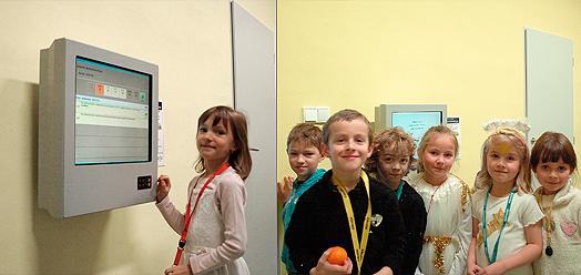 denipkiosk + VIS = PORG school dining room
